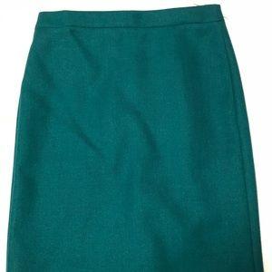 NWT J. Crew Jade Green Pencil Skirt